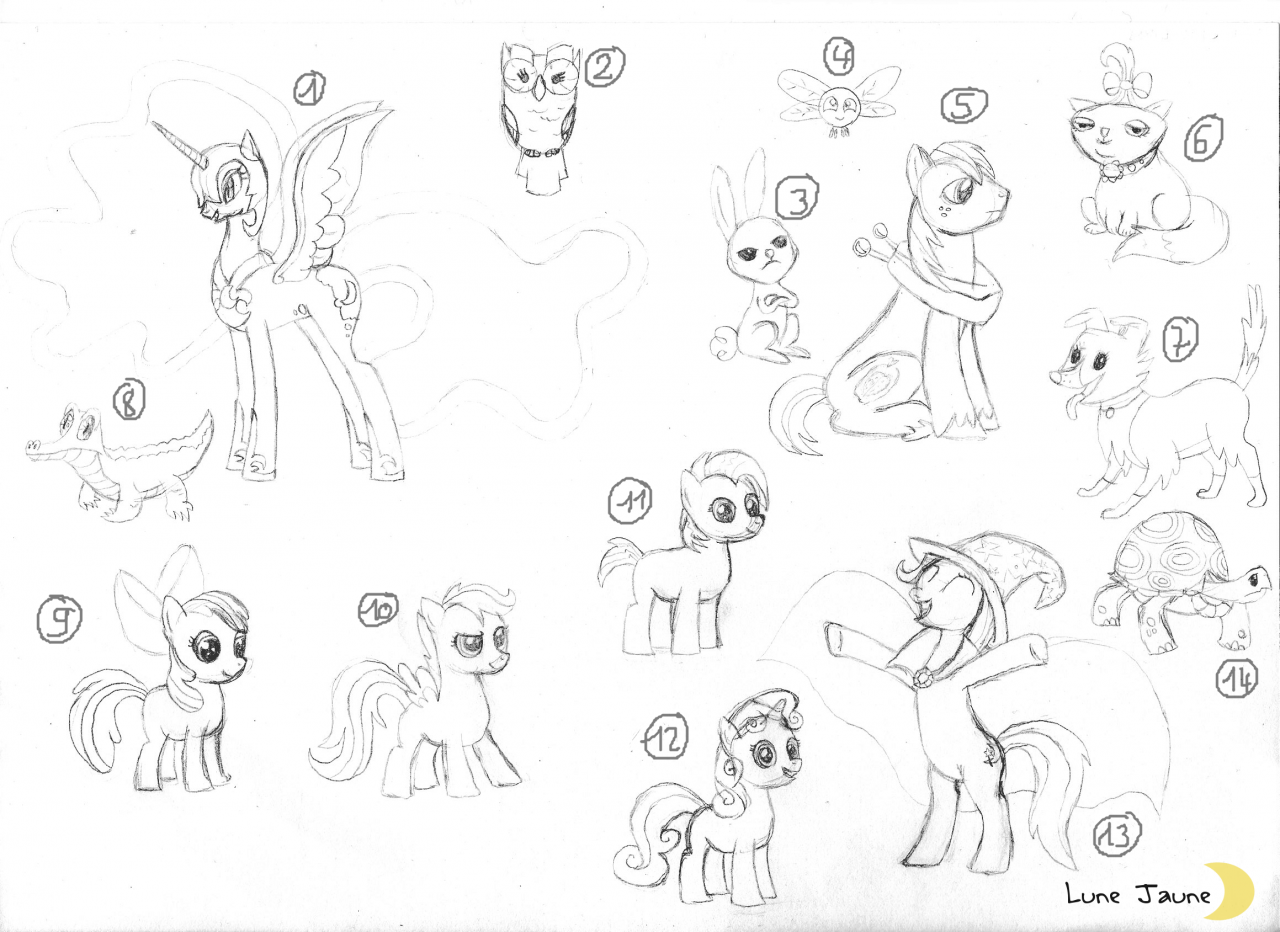 Characters of MLP