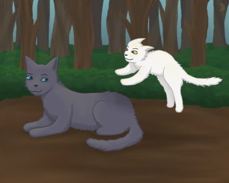 Bluefur and Whitekit